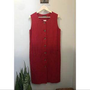 Vintage Harvé Benard Red Button Down Dress